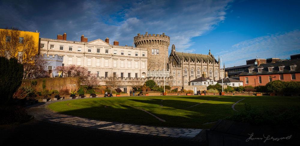 Dublin Castle Panorama - Fuji X-Pro2