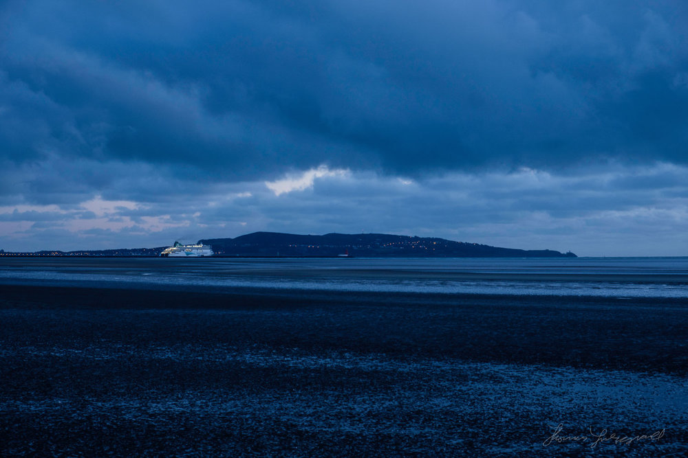 A ferry goes out to dea in Diublin BayTwo years with Fuji X-Pro2
