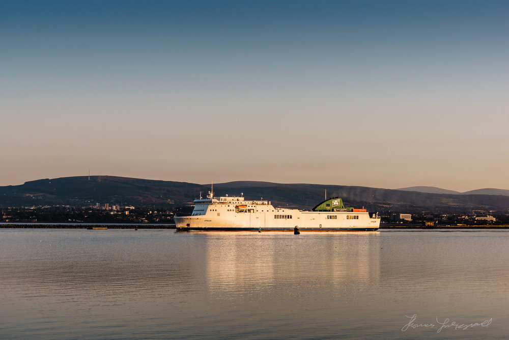Ferry leaving Dublin Port