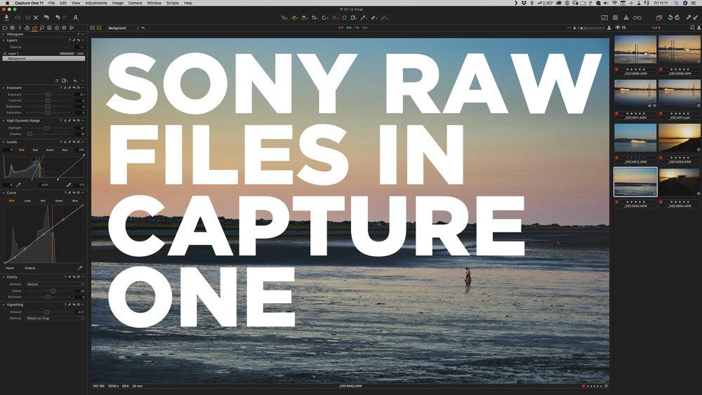 sony raw files mac