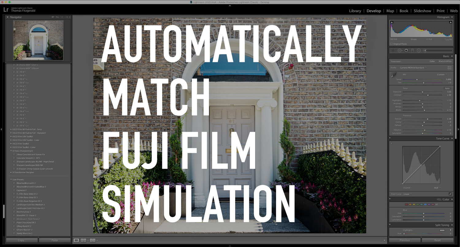 Automatically Apply Fuji Film Simulations in Lightroom 9.2