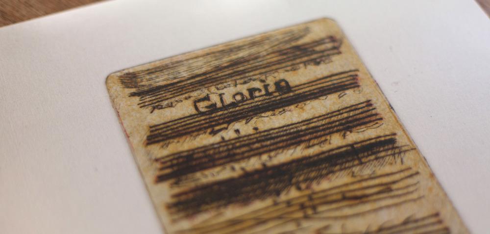 Gloria - Ontwerp voor cd en plaat van Broeder Dieleman