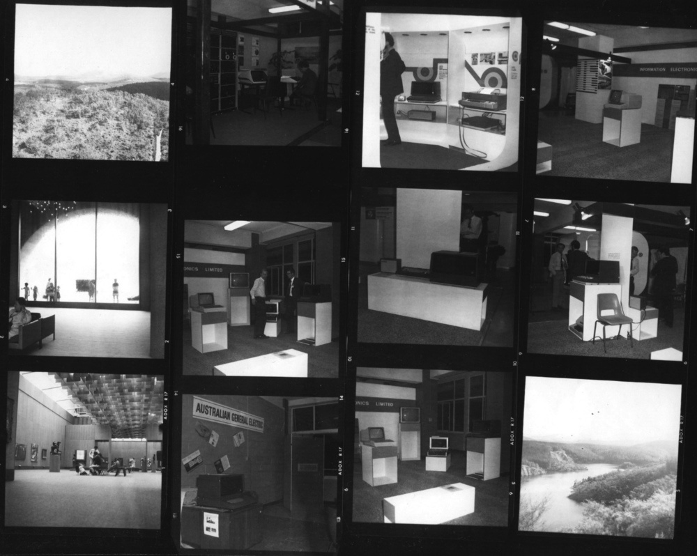 Lin Richardson, [contact sheet, Australian General Electric], 1972, digital scan of silver gelatin print