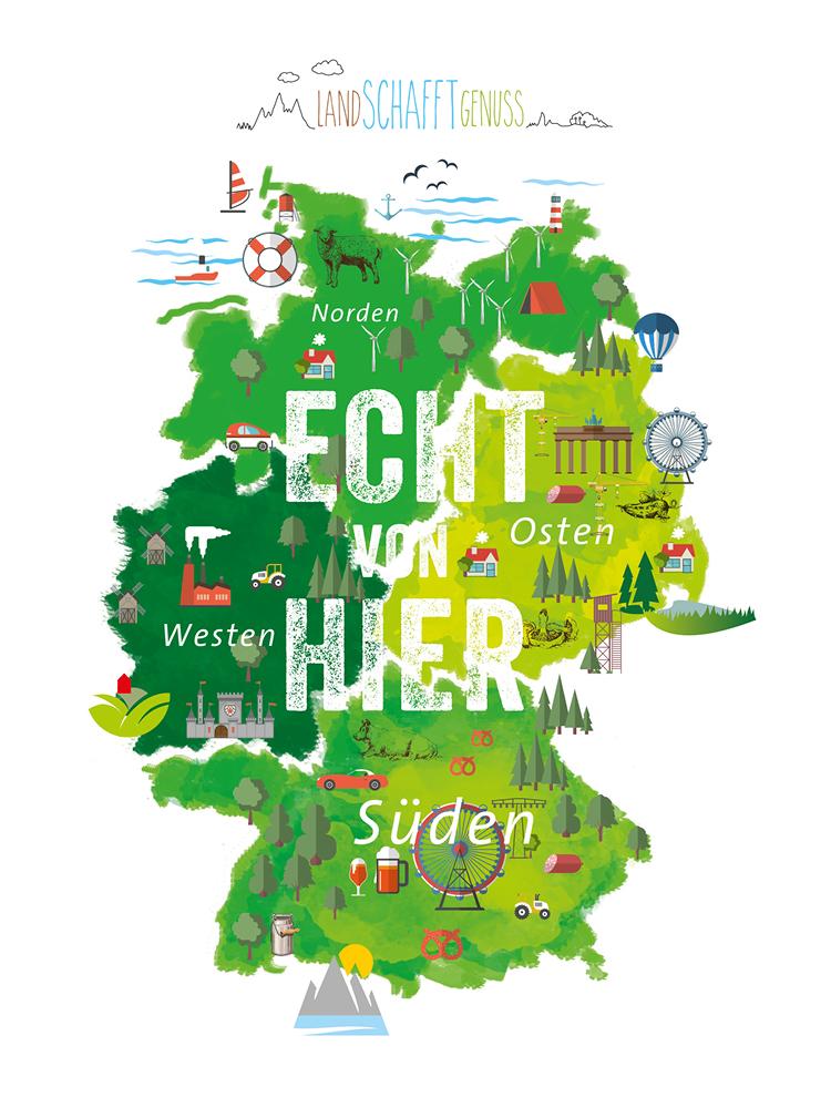 Karte - Land Schafft Genuss. Eine deutschlandweite Aktion.