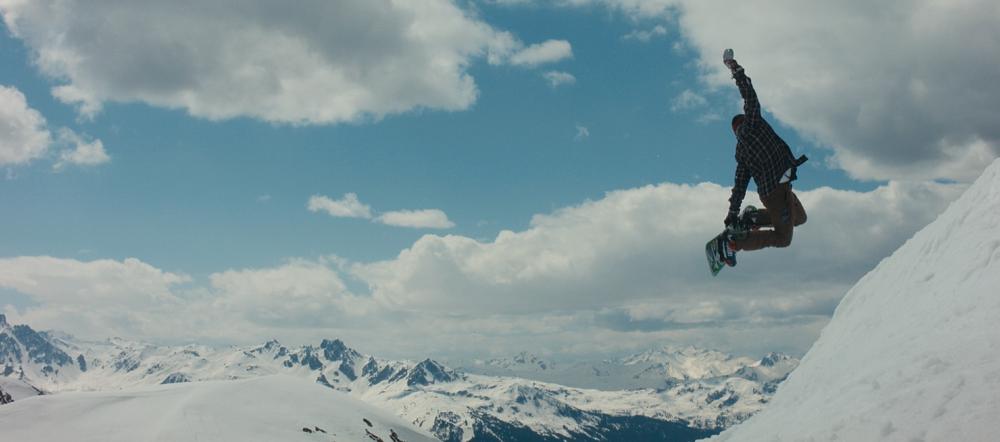 Snowboard jump - promo film skiing