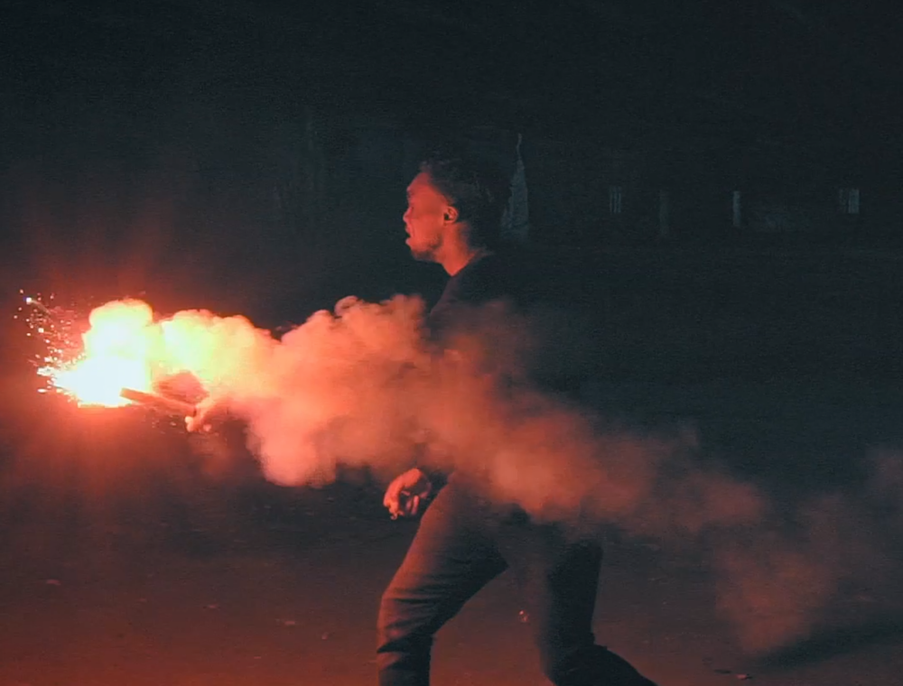 Music Video, Red Flare in Warehouse