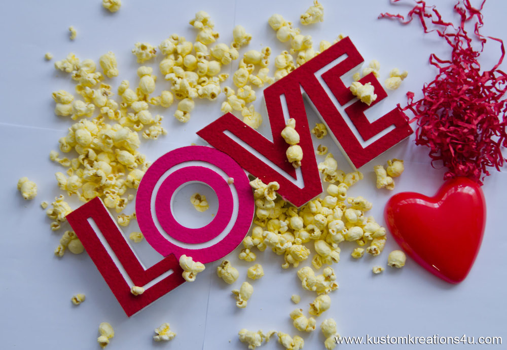 Popcorn Love Valentine's Day Love Hearts