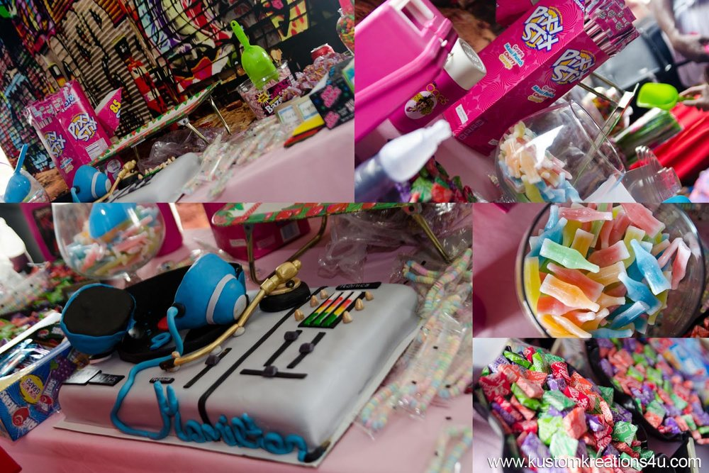 Retro 80's Candies and party supplies