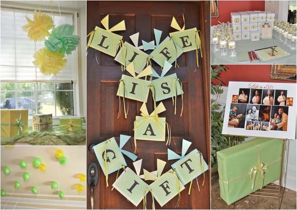 Life is a Gift Party Decor