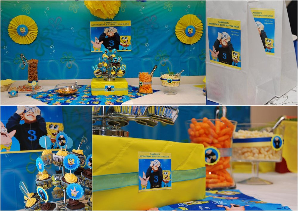 Spongebob Party Custom Party Supplies