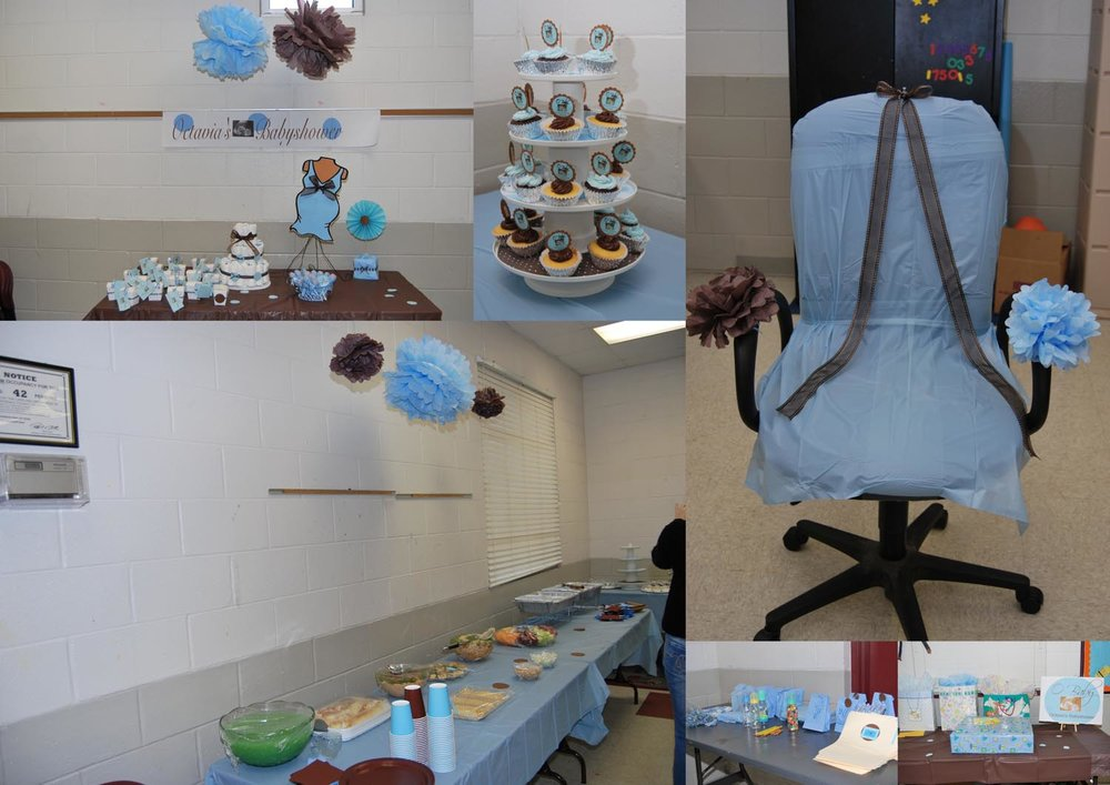 baby shower blue and brown party supplies
