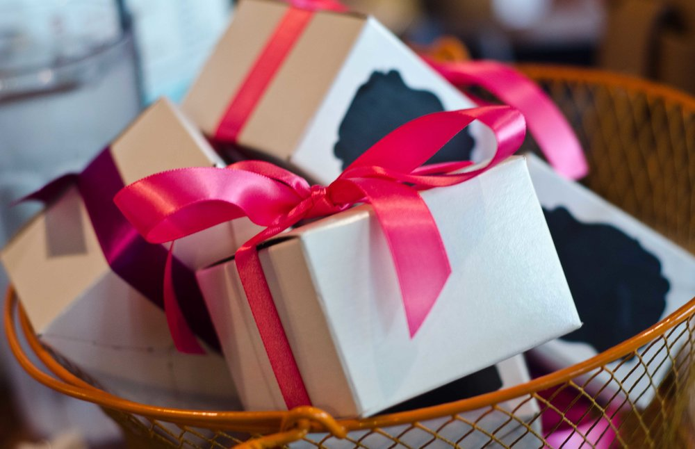 gift boxes with ribbon My gift to you