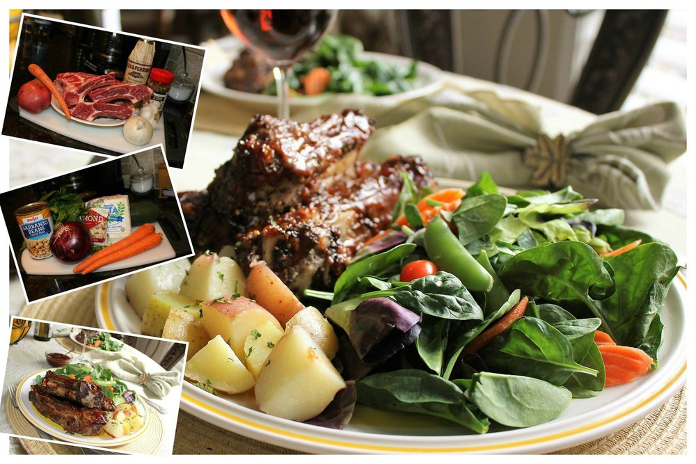 BEEF BBQ RIBS WITH GARDEN SALAD
