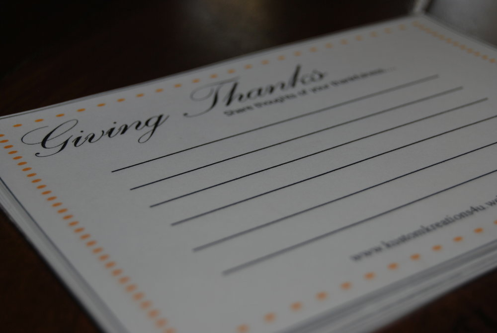 Download your free Giving Thanks Card  Here!