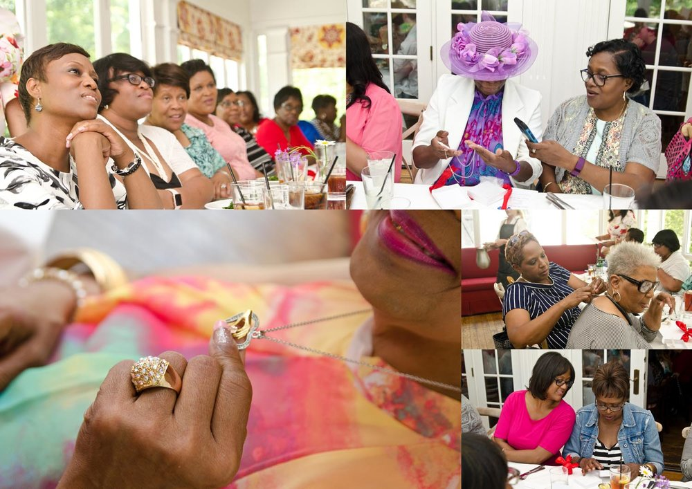 Ladies enjoyed a beautiful video presentation of the daughters giving Mother's Day messages to their mothers. After the presentation they were gifted with beautiful charmed necklaces.