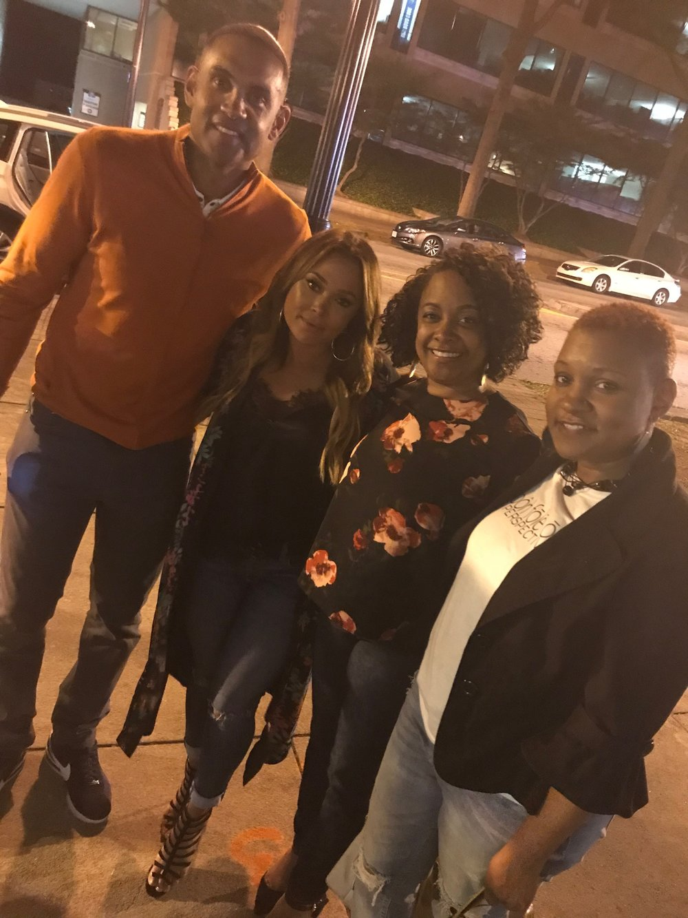 We grabbed a quick photo with Grant Hill & Tamia as they were leaving out the event