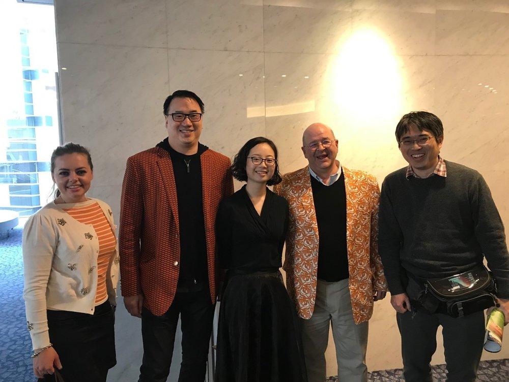 Maria di Visser (friend of Princeton), Max Yeh '91, Kai Shibuya '14, Ed Rogers '87, Hidekazu Oki '00