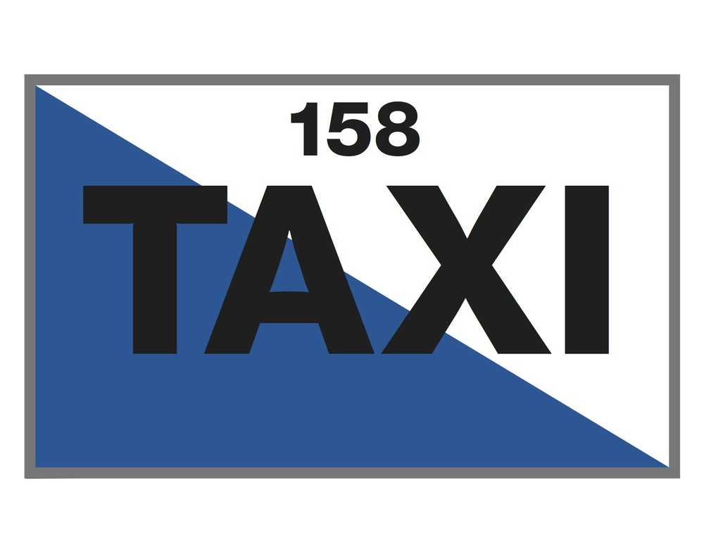 Das Taxischild der Stadt Zürich mit Betriebsbewilligung-Nr. 158