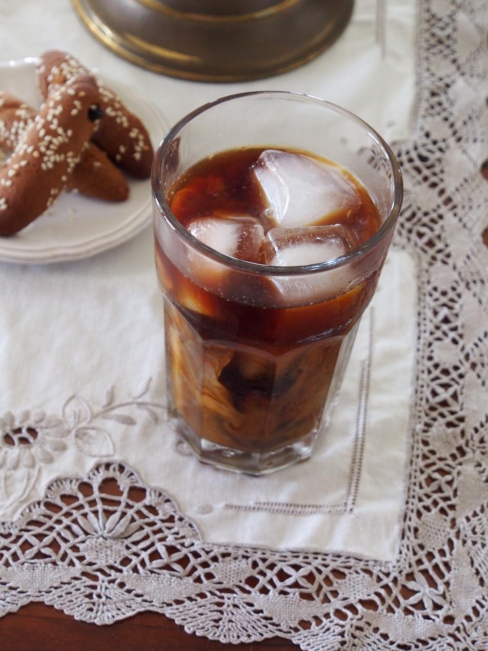 fridge brew espresson over ice