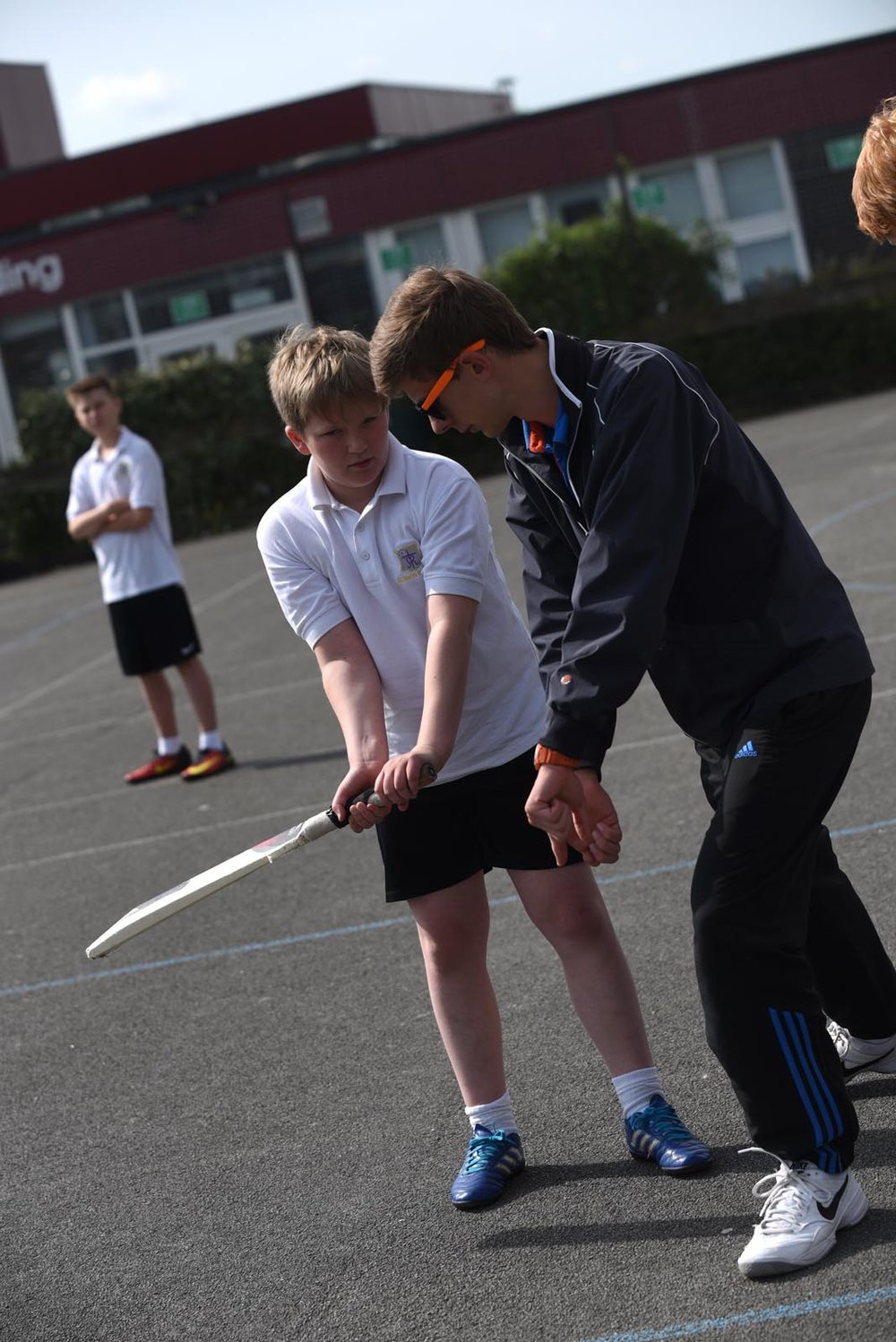 PE lesson, trainee teacher at St. Mary's Menston