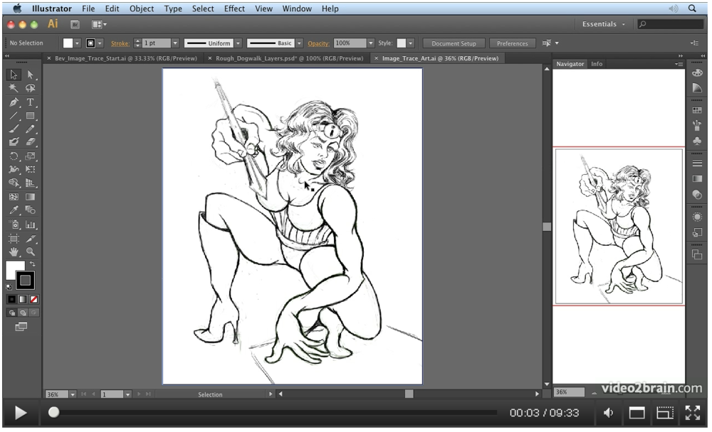 Link to Video2Brain video on using the Image Trace function in Illustrator