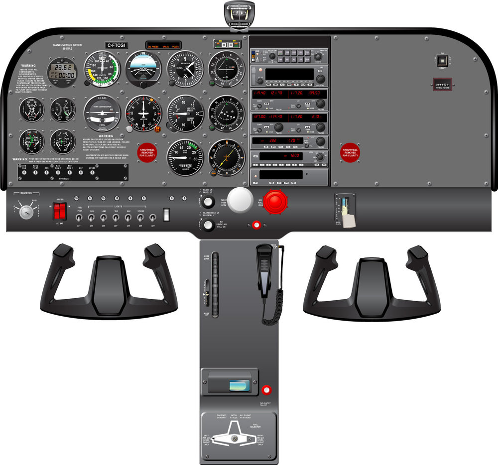 Cessna 172 R Full Cockpit
