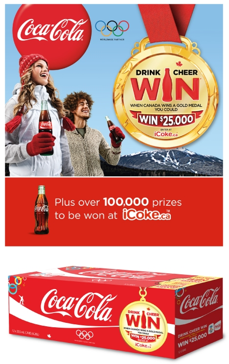Coca-Cola Olympic Drink Cheer Win Promotion