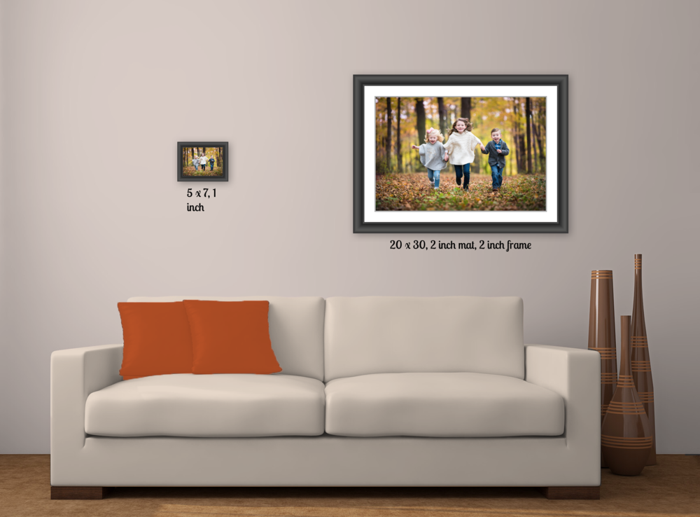 Are you the client on the left or the client on the right? In-home artwork design by www.StevenSergePhotography.com