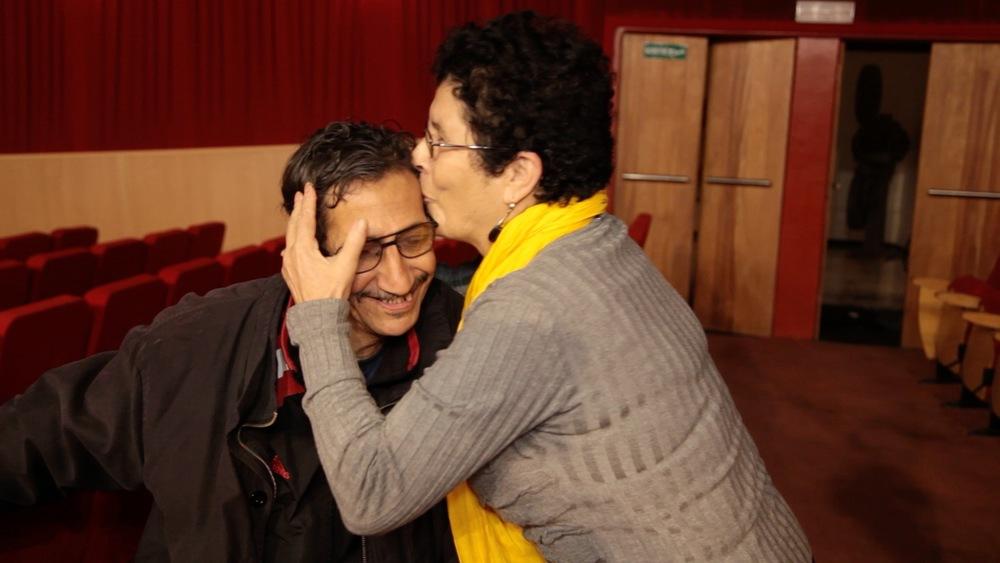 Khadra et Jaffar, ancien collègue de la cinémathèque d'Alger