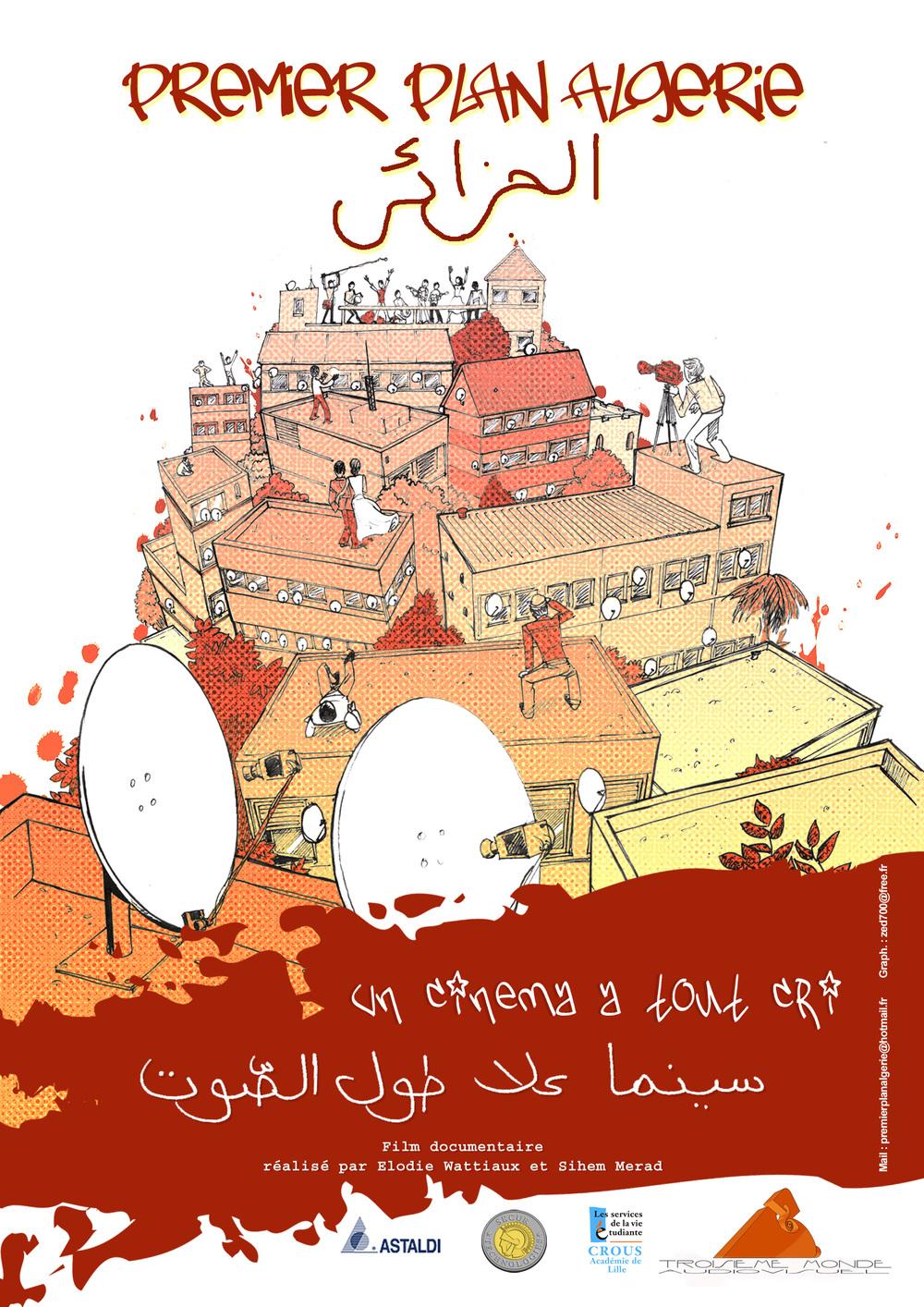Affiche du film PREMIER PLAN ALGERIE. Graph zed700@free.fr