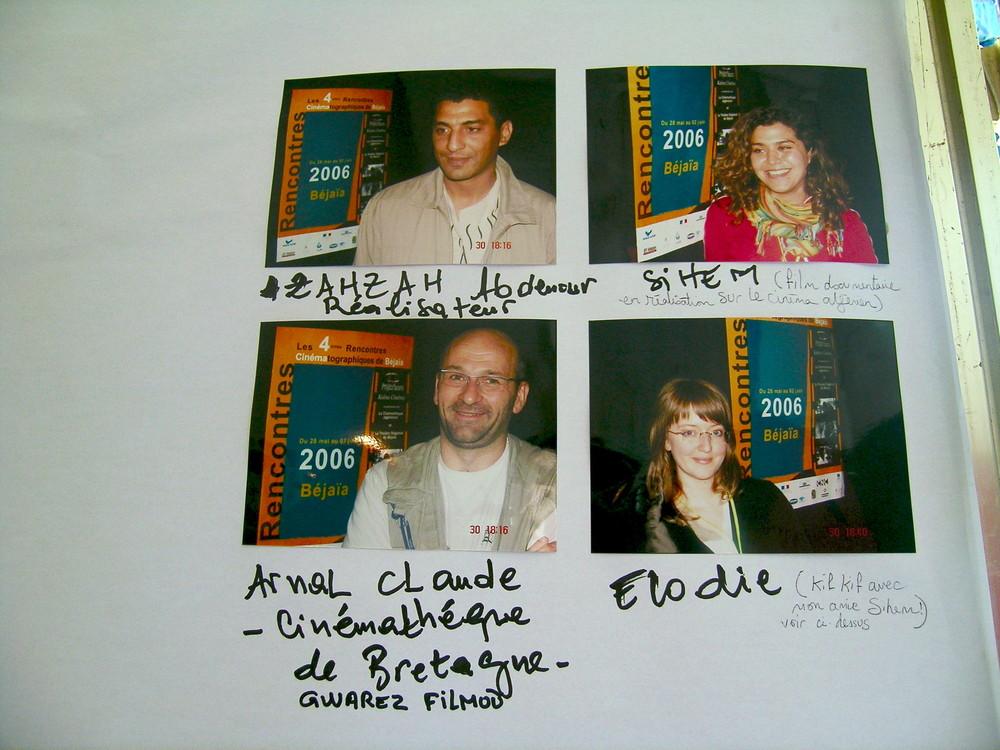 Tableau d'affichage des  Rencontres cinématographiques de Bejaia 2006