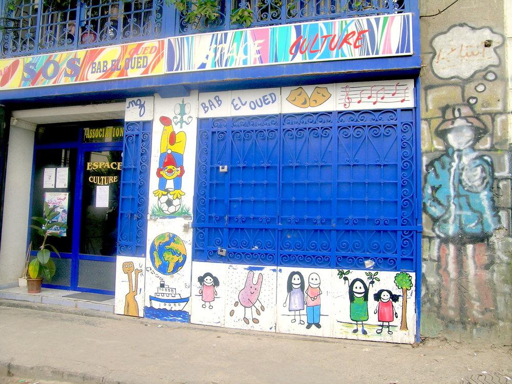 Devanture de l'association SOS Bab el oued, Alger