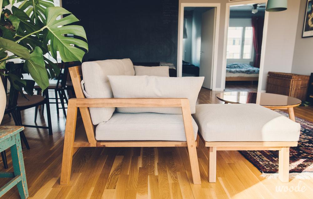 Divaania on helppo siirrellä tai käyttää erillisenä istuimena.