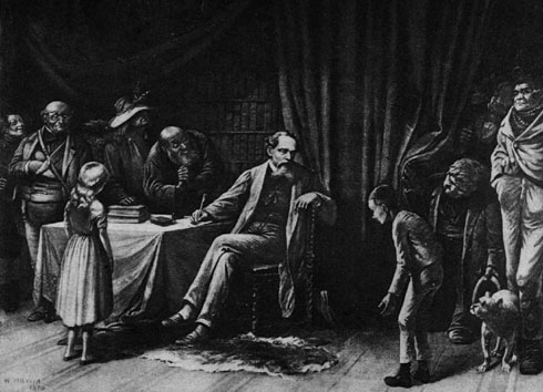 Dickens and his characters via   Wikimedia Commons