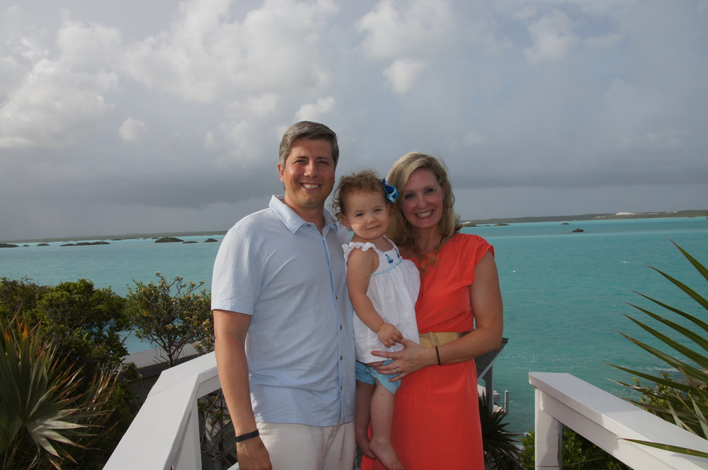 Gunnels family trip to Turks & Caicos; Private Villa on Chalk Sound