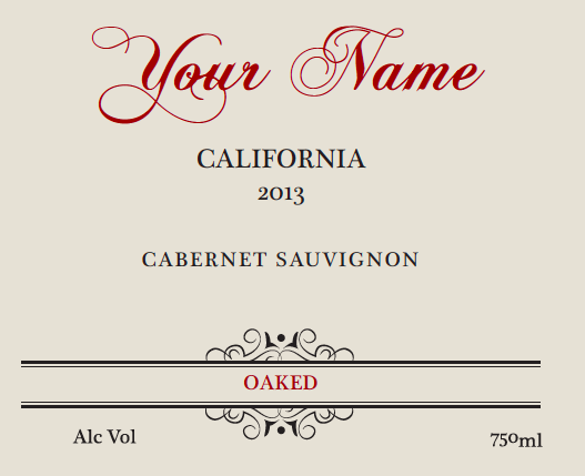 You can have your name added to this label