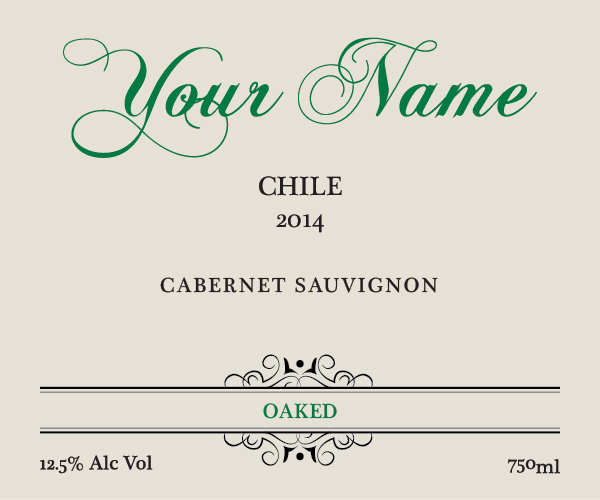 We personalize EVERY wine label we sell!