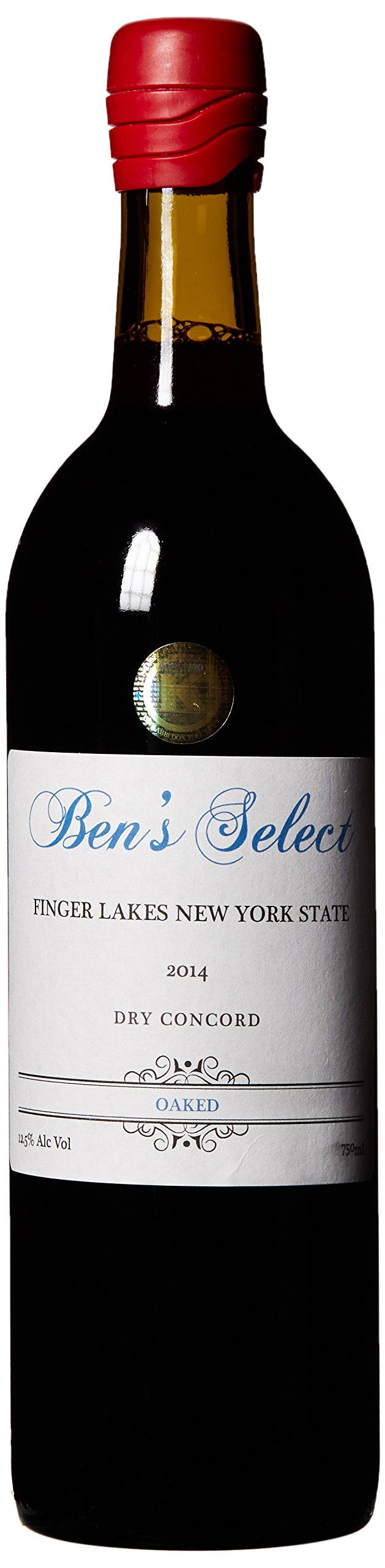 "2014 Ben Ish Winery ""Ben's Select"" Finger Lakes New York State Dry Concord Wine with personalized label 750 mL"