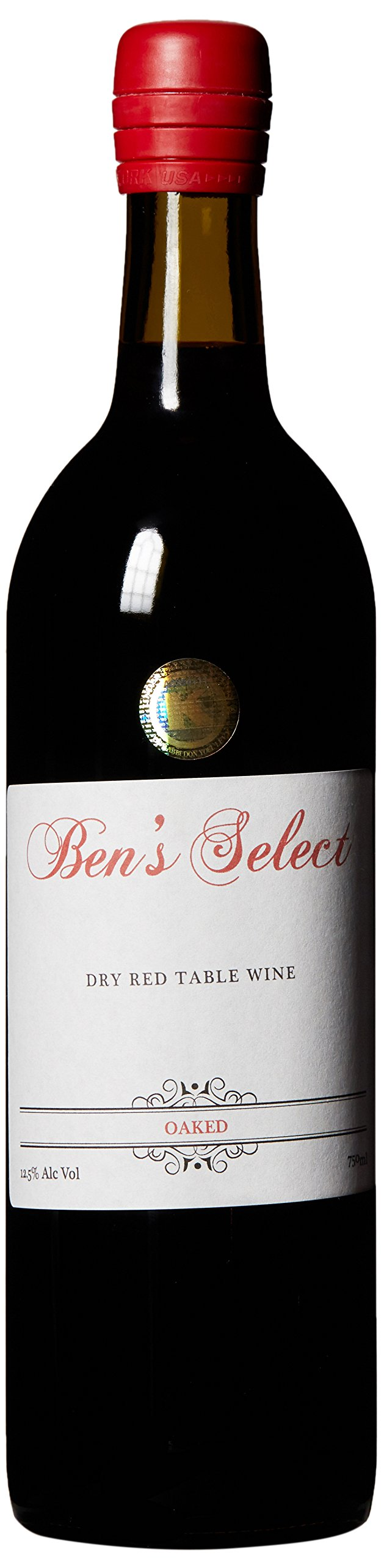 """NV Ben Ish Winery """"Ben's Select"""" New York State Dry Red Table Wine with personalized label 750 mL"""