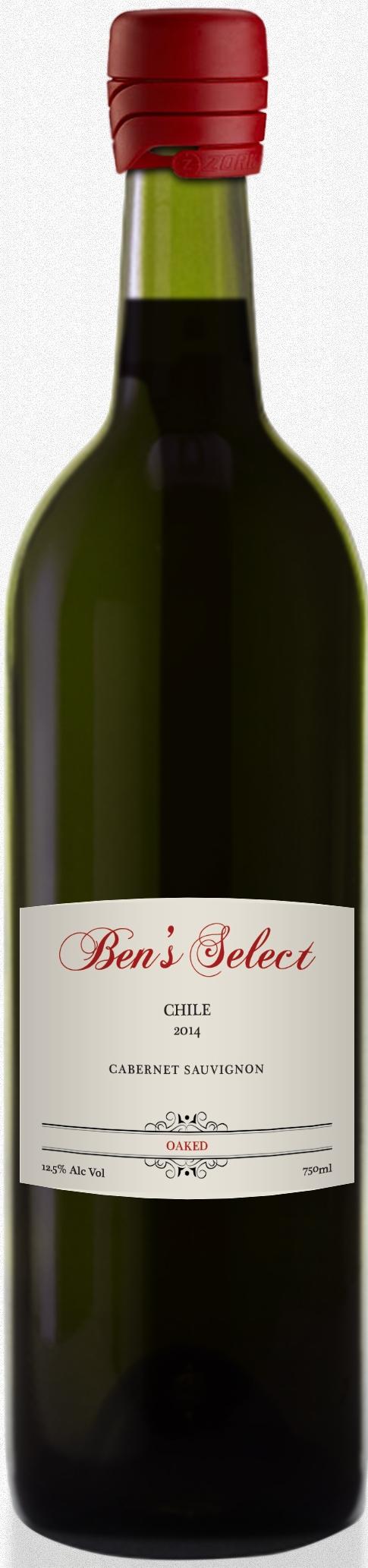 Ben's Select Cabernet Sauvignon 2014 Chile Kosher