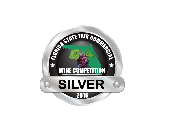 Florida State Fair Commercial Wine Competition - For our 2015 Cabernet Sauvignon - SILVER medal