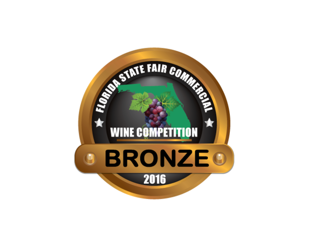 Florida State Fair Commercial Wine Competition - For our 2015 Zinfandel -  BRONZE medal