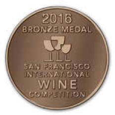 San Francisco International Wine competition - 2016 BRONZE medal