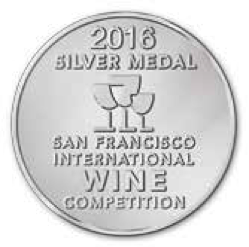San Francisco International Wine competition - 2016 SILVER medal