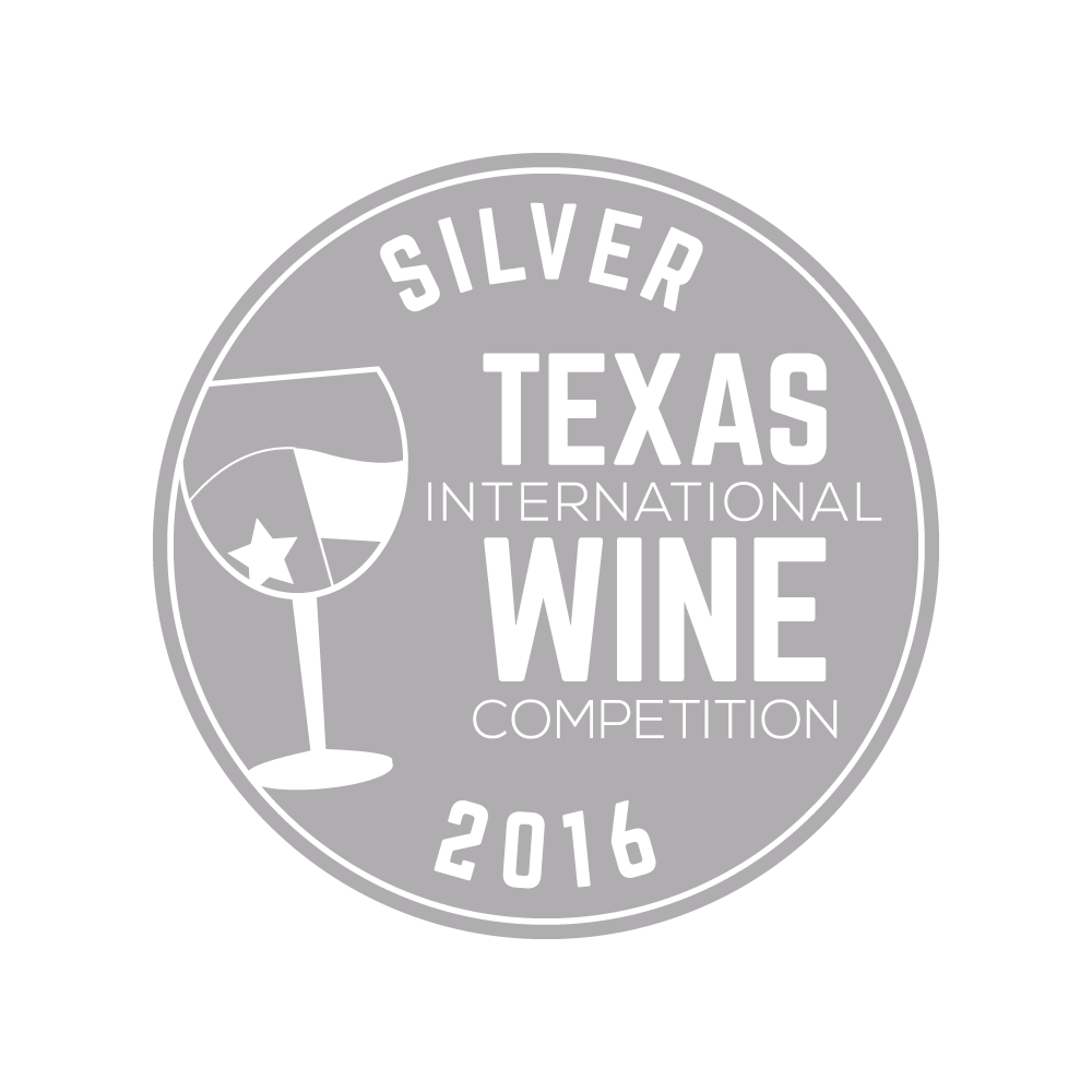 Texas International Wine competition - 2016 SILVER medal