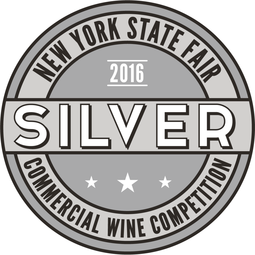 New York State Fair Commercial Wine Competition-Cabernet Sauvignon 2016 New York -Silver medal For the 2016 Cabernet AND the 2016 Zinfandel