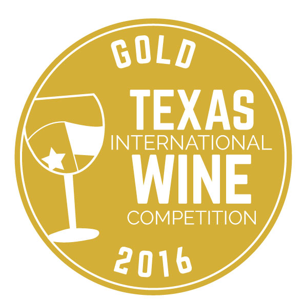 Texas International Wine competition - 2016 GOLD medal