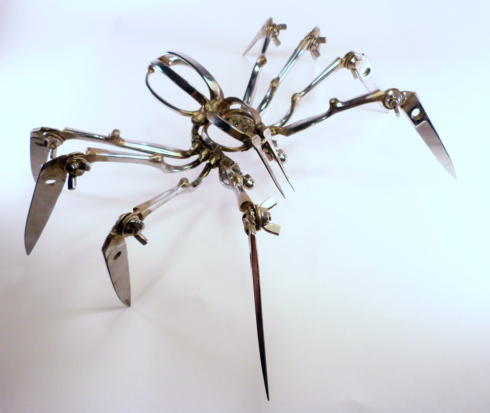 Extra Large scissor spider (dressmaker's shears)