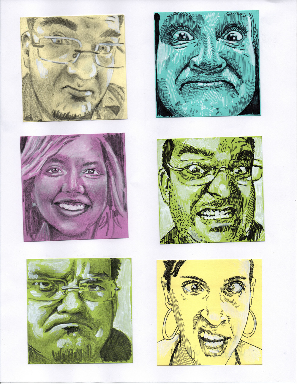 Post-It Portraits