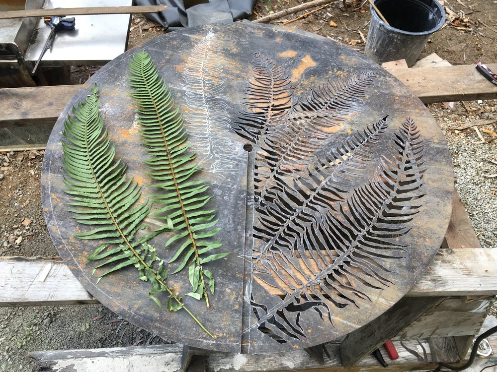 fern sconce (in process)